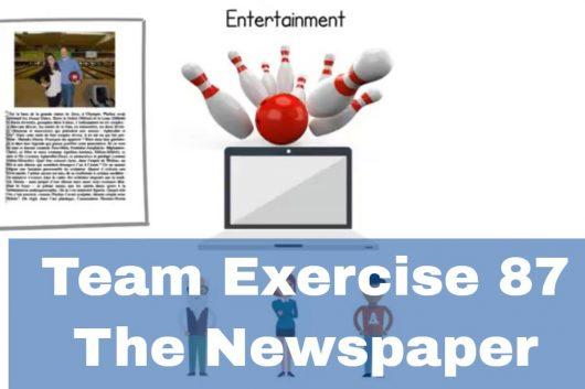 Creative Team Building Activities – The Newspaper