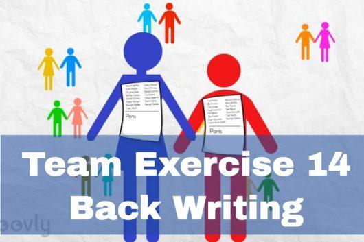 Group Exercise Ideas – Back Writing