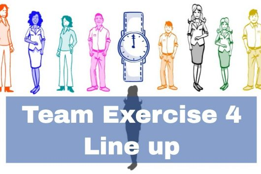 Team Building Exercise – Line up