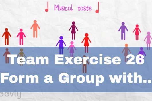 Team Building Game – Form a group with..