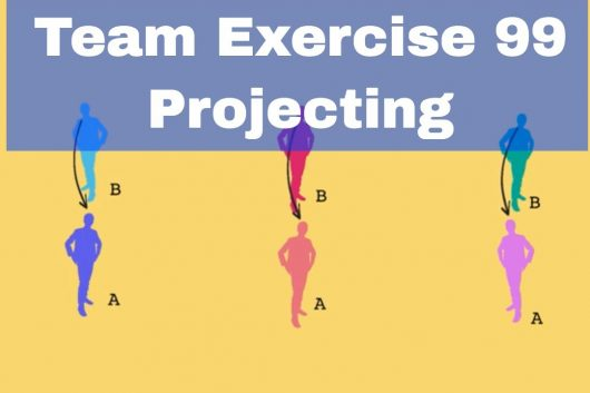 Group building activities – Projecting