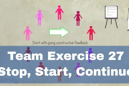 Team Exercises for small groups – Stop Start Continue